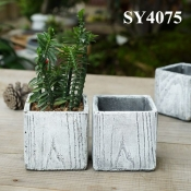 Garden pot for decoration small square ceramic flower pot