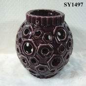 "8"" agate red stick wick candle"